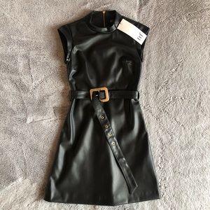Zara Leather black dress